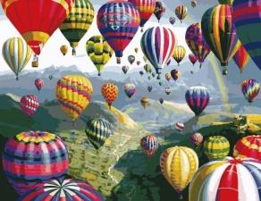 """Набор алмазной вышивки """"Разноцветные воздушные шары"""""""