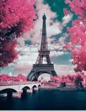 """Набор алмазной вышивки """"Эйфелева башня в цвету"""""""