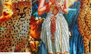 """Набор алмазной вышивки """"Клеопатра блестящие камни"""""""