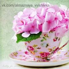 """Набор алмазной мозаики """"Чашечка с цветами"""""""