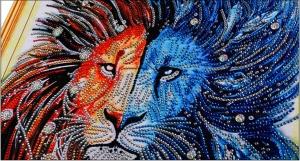 """Набор алмазной вышивки """"Гордый лев"""""""