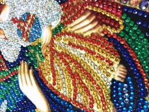 """Набор алмазной мозаики """"Господь Вседержитель. Блестящие стразы"""""""