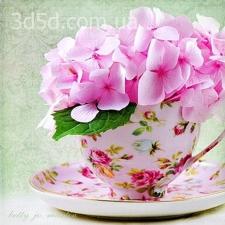"""Набор алмазной мозаики """"Цветы в чашке"""""""