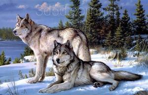 """Набор алмазной вышивки """"Волчья верность"""""""