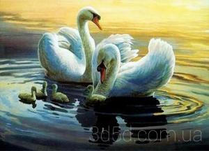 """Набор алмазной вышивки """"Лебеди"""""""