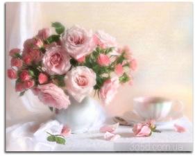 """Набор алмазной вышивки """"Розы в вазе"""""""