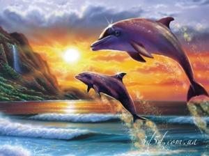 """Набор алмазной мозаики """"Дельфины"""""""