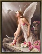 """Набор алмазной мозаики """"Девушка-ангел"""""""