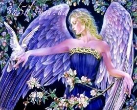 """Набор алмазной мозаики """"Ангел с голубем"""""""
