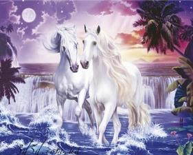 """Набор алмазной мозаики """"Белые лошади"""""""