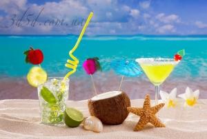 """Набор алмазной мозаики """"Тропический коктейль с кокосом"""""""