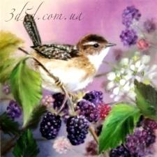 """Набор алмазной мозаики """"Птичка на ягодах"""""""