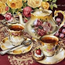 """Набор алмазной мозаики """"Две чашки и чайник"""""""