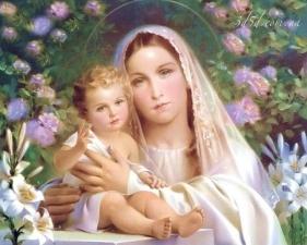 """Набор алмазной мозаики """"Мария с младенцем"""""""