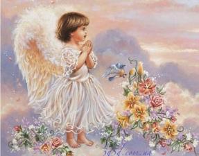 """Набор алмазной мозаики """"Ангелочек в молитве"""""""