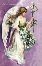 """Набор алмазной мозаики """"Ангел с лилиями"""
