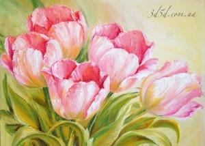 """Набор алмазной мозаики """"Розовые тюльпаны"""""""