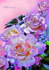 """Набор алмазной мозаики """"Розы с переливом"""""""