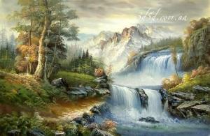 """Набор алмазной мозаики """"Водопад в лесу"""""""