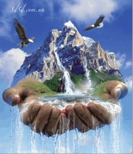 """Набор алмазной мозаики """"В руках Бога"""""""