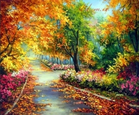"""Набор алмазной мозаики """"Осенний парк"""""""