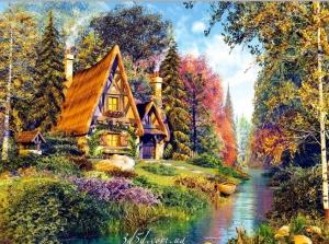 """Набор алмазной мозаики """"Домик в деревне"""""""