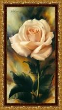 """Набор алмазной вышивки """"Бежевая роза частичная выкладка"""""""