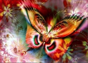 """Набор алмазной мозаики """"Разноцветная бабочка"""""""