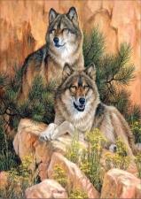 """Набор алмазной мозаики """"Волчья верность. Вдвоем"""""""