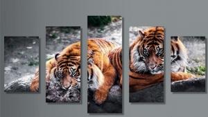 """Набор алмазной мозаики """"Тигры триптих"""""""