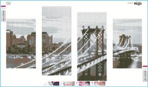 """Набор алмазной мозаики """"Бруклинский мост"""""""