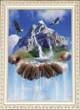 """Набор алмазной вышивки """"В руках Бога. Водопад"""""""