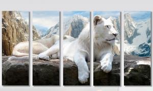 """Набор алмазной мозаики """"Белая львица - Божественная мудрость"""""""