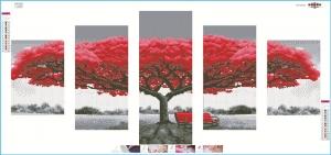 """Набор алмазной вышивка """"Красное дерево - символ достатка"""""""