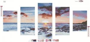 """Набор алмазной мозаики """"Рассвет на море"""""""