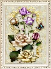 """Набор алмазной вышивки """"Золотые розы"""""""