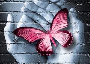 """Набор алмазной мозаики """"Бабочка. Любовью согретая"""""""
