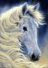 """Набор алмазной мозаики """"Белая лошадка"""""""