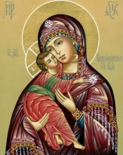 """Набор алмазной мозаики """"Владимирская Пресвятая Богородица"""""""