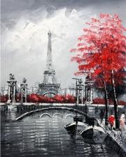 "Набор алмазной вышивки ""Эйфелева башня, худ. Eiffel Streets by Aisha Haider"""