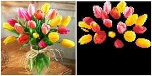 """Набор алмазной мозаики """"Весенний букет тюльпаны"""""""