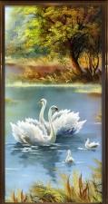 """Набор алмазной вышивка """"Пейзаж. Семья лебедей"""""""
