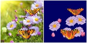 """Набор алмазной мозаики """" Полевые цветы  """""""