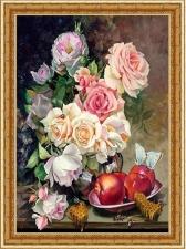 """Набор алмазной вышивки """"Розы и яблоки"""""""