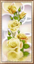 "Набор алмазной вышивка ""Желтая роза частичная выкладка"""