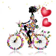 """Набор алмазной мозаики """"Фея на велосипеде"""""""