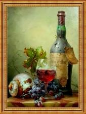 """Набор алмазной вышивки """"Натюрморт с красным вином, худ. Габорт Тот"""""""