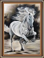 """Набор алмазной вышивки """"Волевой конь"""""""