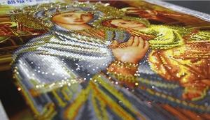 """Набор алмазной мозаики """"Богородица Неустанной помощи Страстная Икона"""""""