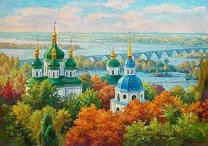 """Набор алмазной вышивки """"Выдубицкий монастырь. Киев"""""""